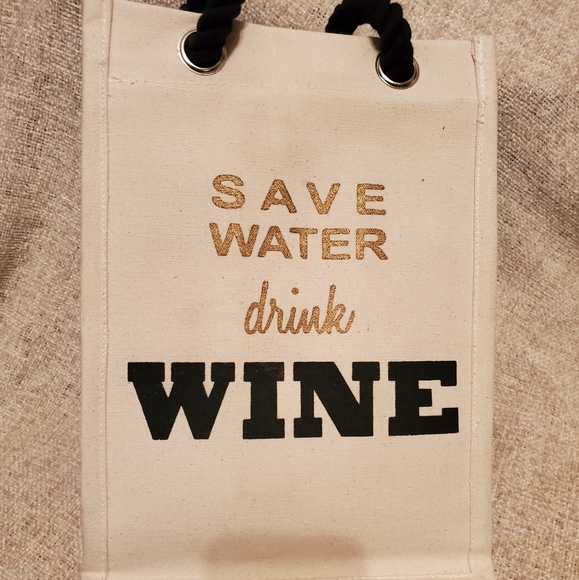 Handbags - Save Water Drink Wine Bag Tote Gift